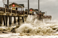 Jennette's Pier Greets Hurricane Sandy, October, 2012
