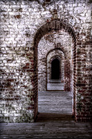 Interior of Fort Macon; Fort Macon State Park, Atlantic Beach, NC