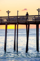 Fisherman at Kitty Hawk Pier